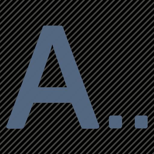 alphabet, letter, type, varchar icon