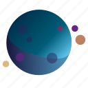 dots2, flatdesign, galaxy, gradients, planets icon