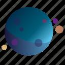 dots2, flatdesign, galaxy, gradients, planets
