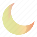 cresent, gradient, moon, moon1 icon