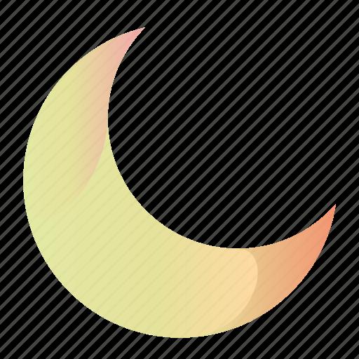 cresent, gradient, moon, moon1 icon