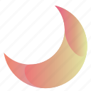 cresent, gradient, moon, moon3 icon