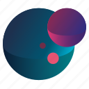 galaxy, gradient, planet, planets2, universe icon