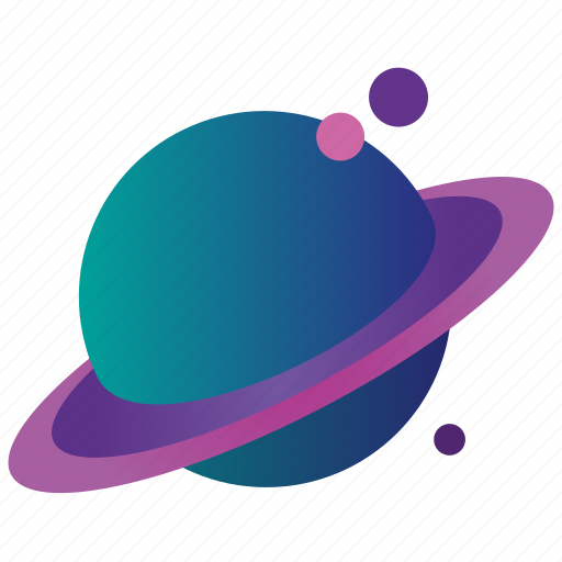 flatdesign, galaxy, gradient, planet, saturn, saturn1 icon