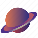flatdesign, planet, saturn, saturn2 icon