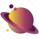 flatdesign, galaxy, gradient, planet, saturn, saturn3, universe icon