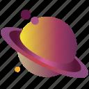 flatdesign, galaxy, gradient, planet, saturn, saturn3, universe