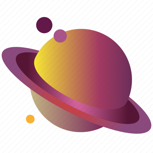flatdesign, galaxy, gradient, planet, saturn, saturn3, universe icon