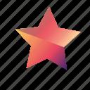 gradient, star, star1