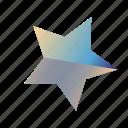 gradient, star, star3