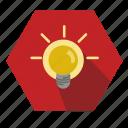 glow, idea, lamp icon