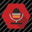 mic, microphone, sound, speak icon