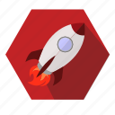 launch, lift, rocket, start icon