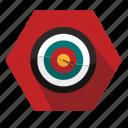 bullseye, point, target icon
