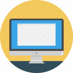 computer, device, display, imac, monitor, online icons, screen icon icon