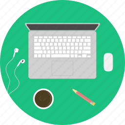 computer, freelance, job, laptop, mac, office space, work space icon