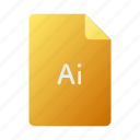doc, document, file, illustrator icon