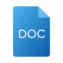 doc, document, file, office icon