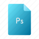 doc, document, file, photoshop icon