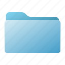 blue, closed, file, folder icon
