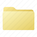 closed, file, folder, yellow icon