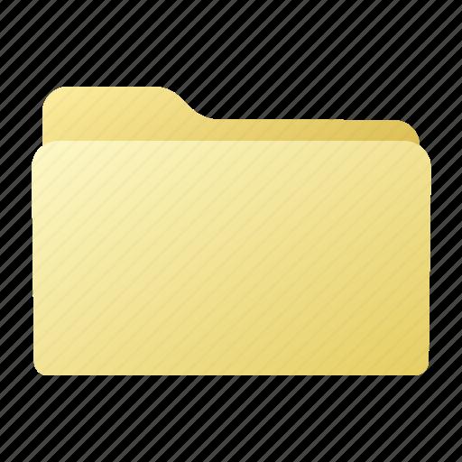 closed, file, folder, yellow icon
