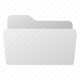 file, folder, gray, grey, open icon