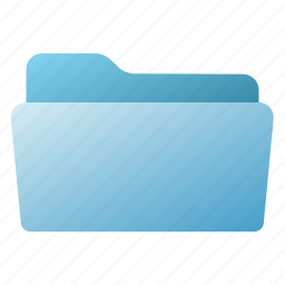 blue, file, folder, open icon