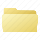 file, folder, open, yellow icon