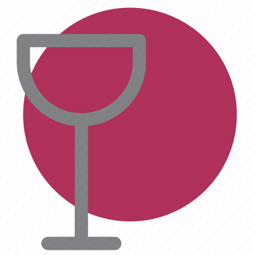 alcohol, bar, circle, drink, glass, party, wine icon