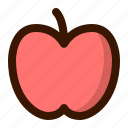 apple, education, food, fruit, school, teacher, tropical icon