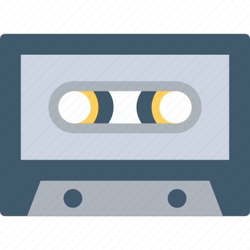 Audio tape, cassette, cassette tape, compact cassette, tape icon - Download on Iconfinder