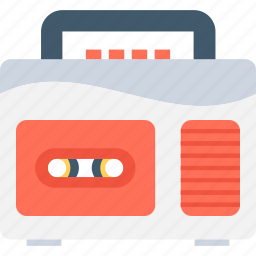 boombox, cassette player, ghetto blaster, stereo, tape recorder icon