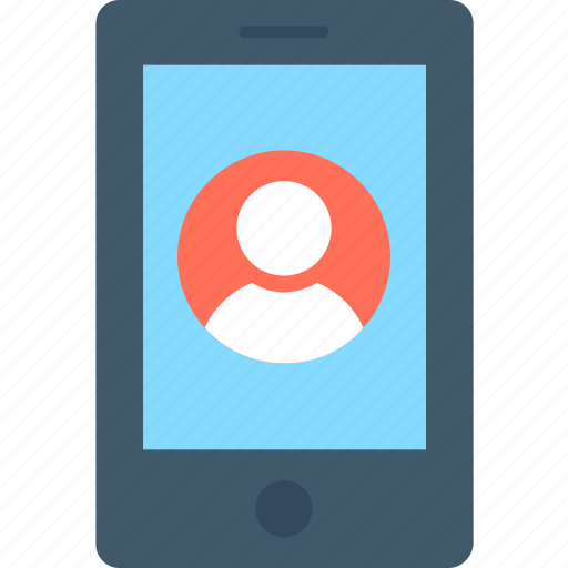 mobile, mobile account, video call, video chat, video conference icon