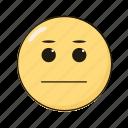 emoji, emoticon, emotikon, ikon, poker face icon