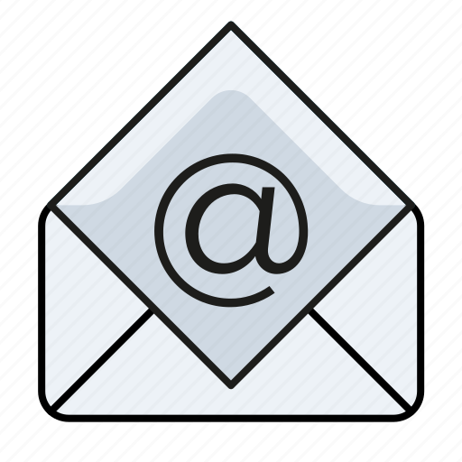 at, email, email client, mail, send icon