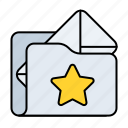 email star, pref, preferred, email preferred, mail preferred, folder, email icon