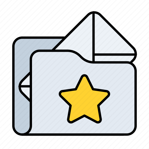 email, email preferred, email star, folder, mail preferred, pref, preferred icon