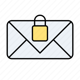 email, email locked, lock, mail locked icon