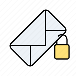 email, email locked, locked, mail locked icon