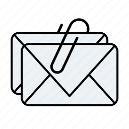 attachment, email, email attachment, mail icon