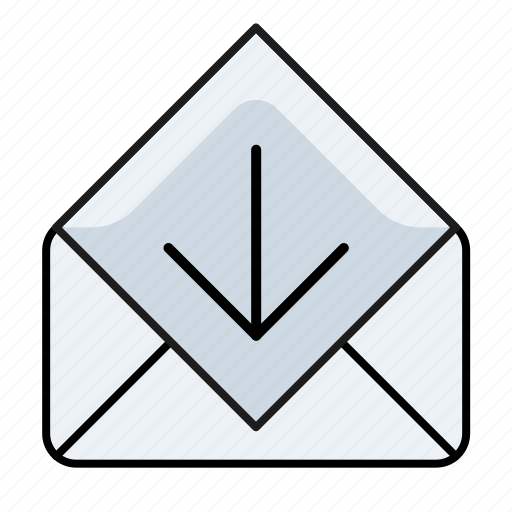 down, email, email received, read icon