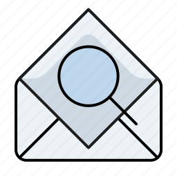 email, email search, email search zoom, mail search, read, search, zoom icon