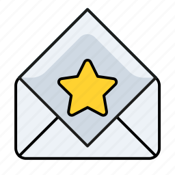 email, preferred email, read, star icon