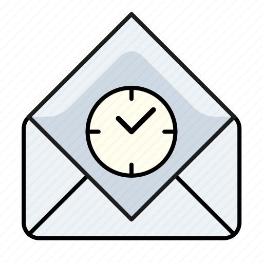 email, mail scheduling, read, scheduling email, time icon