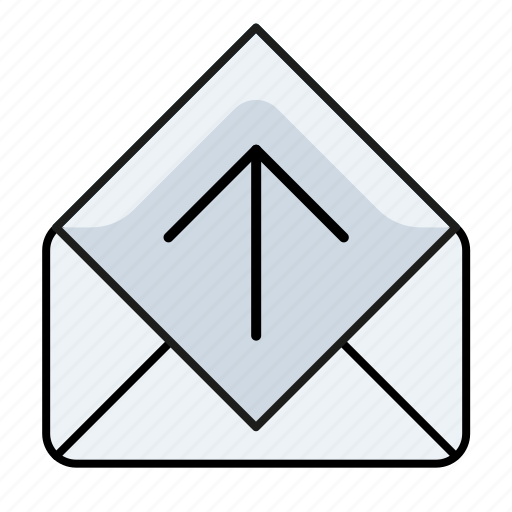 email, email open, mail open, read, up icon