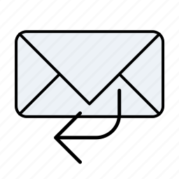 email, email replay, mail replay, replay icon