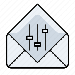 e, email, email settings, mail setting, settings icon