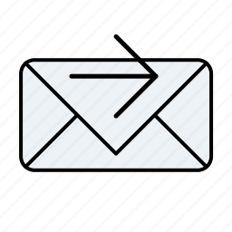 arrow, email, email forward, forward, mail forward, right, unread icon