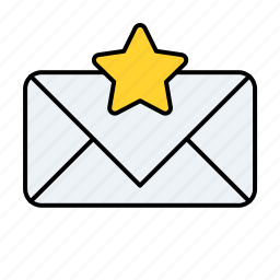 email, email unread starred, preferred email, star, starred email, unread icon
